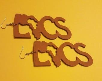 Camel Wooden Locs Earrings
