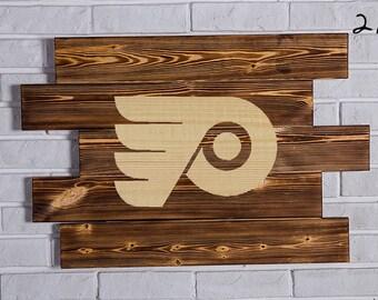 Philadelphia Flyers Wood Sign  Philadelphia Flyers Wall art  Philadelphia Flyers Gift  Philadelphia Flyers Birthday