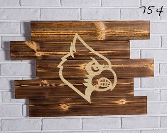 louisville cardinals Wood Sign  louisville cardinals Wall art  louisville cardinals Gift  louisville cardinals Birthday