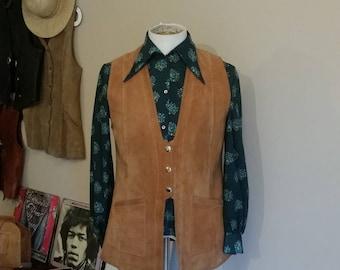 70s suede waistcoat