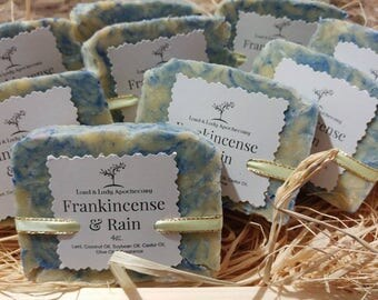 Frankincense & Rain Handmade Soap 5oz.