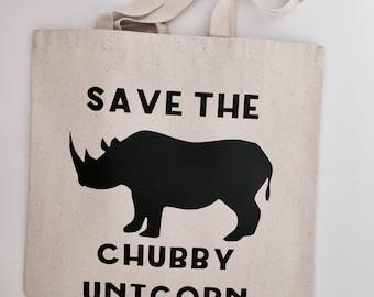 Chubby Unicorn Tote