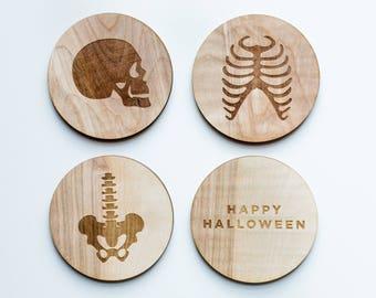 Skeleton Coaster Set