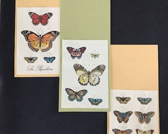 Trio of Embellished Butterfly Note Cards