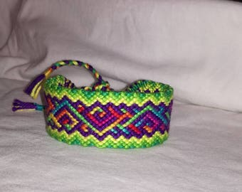 Colorful braided bracelet, Knotted bracelet, Handwoven bracelet, String bracelet, Bracelet bresilien,Wrist band, Friendship bracelet, Boho