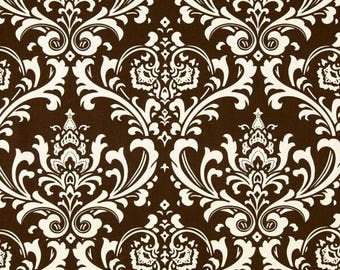 Chocolate Brown Ozborne Damask Fabric by Premier Prints no.150