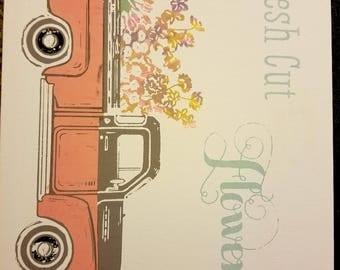 Vintage Truck Spring Flower's