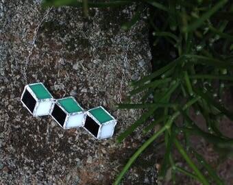 Cube Pendant Necklace