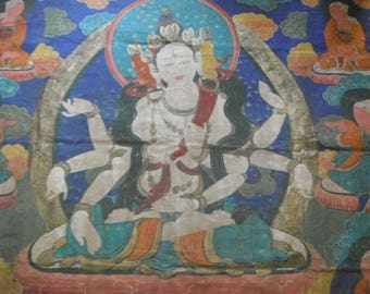 A Genuine Tibetan Thangka (165cm x 190cm)