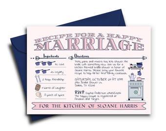 Kitchen Bridal Shower Invitation | Kitchen Themed Invite | Stock the Kitchen Bridal Shower Invitation | Bridal Shower Invite
