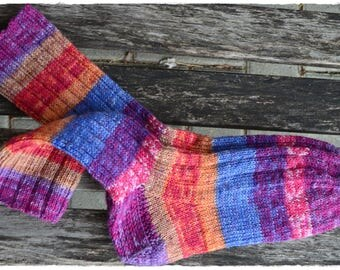 Hand knitted Socks women's size UK 4,5-6, US 7-8