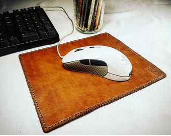 Leather Mouse Pad, Leather Desk Mat, Leather Desk Pad