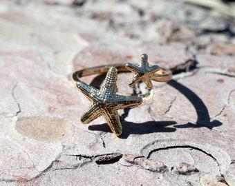 Starfish ring * gold * maritime sea * seastar