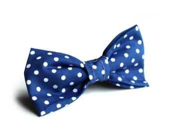 Blue Polkadots Bow Tie
