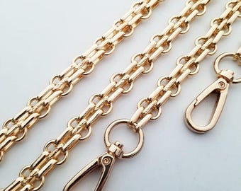 gold chain purse strap bag handbag strap handles gold handbag findings Replacement Chain Strap wholesale finished chain width 11 mm 1pcs