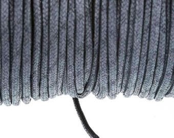 2.7 mm black waxed cotton cord