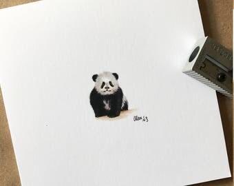 mini baby panda print