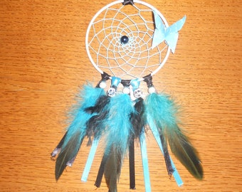 Small dream catcher turquoise and black