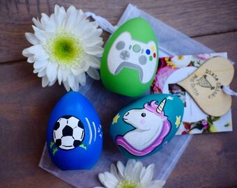 Personalized egg etsy custom easter gifts for kids kids painted easter eggs personalized easter eggs custom negle Images