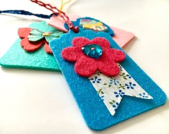 Felt gift tags, gift tags, tags