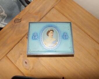 Vintage 1953 Queen Elizabeth II Coronation WD &HO Wills Capstan Cigarette Tin - Retro Tin - Vintage Home
