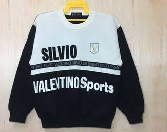 Free Shipping SILVIO VALENTINO crewneck casual streetwear urban fashion