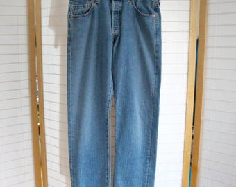 Levi's 501 Made in Mexico 33 x 29(actual measurements) Light blue wash denim. Summer of Love 50th Anniversary Sale. Just 29.67