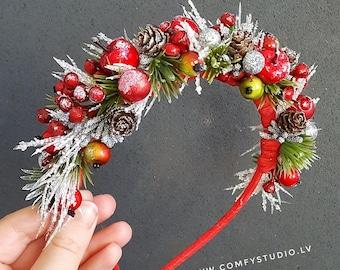 Christmas Headband - Party Headband - Holiday Headband - Red Headband - Adult Headband - Children Headband