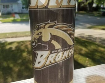 Western Michigan University Broncos vase/candle holder college school