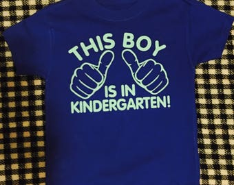 Kindergarten Boys Shirt |SALE