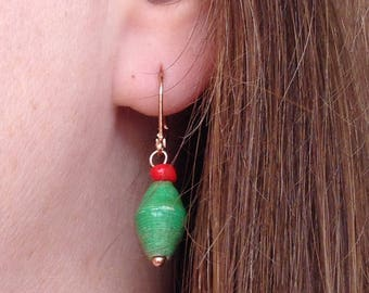 Paper Bead Earrings