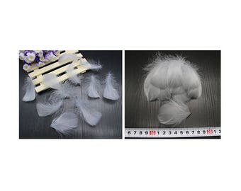 Set of 5 small gray feathers
