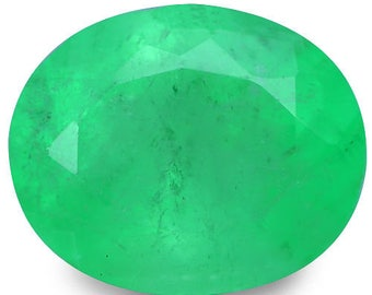 3.83 Ct Never ~ Ever Listed ! 100% Natural Top Transparent Vivid Colombian Emerald