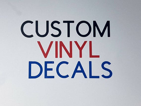 Custom Decals Custom Vinyl Decal Vinyl Stickers Vinyl Wall - Custom vinyl wall decals logo