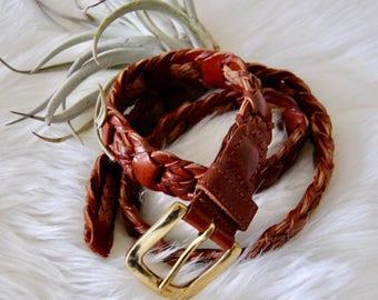 Vintage Woven Leather Belt