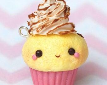 Polymer clay cupcake charm/chocolate/jewelry/gift ideas/sweets/cute/kawaii
