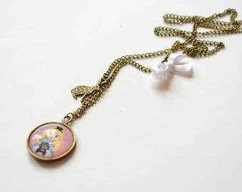Long necklace Alice in Wonderland