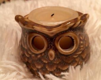 Vintage Owl Votive Candleholder
