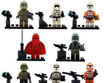 Lot of 8 Lego Star Wars Customized figures