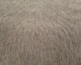 Luxury Faux Fur Fabric PLUSH GREY