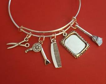 Hairdresser Themed Charm Bracelet