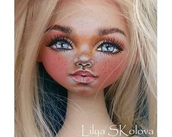 Textile doll textile dolls rag doll rag dolls blonde doll textile doll