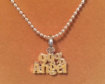 99% Angel Charm Neclace
