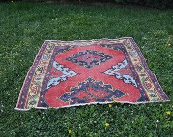 Free Shipping anatolian bohemian area rug 5. x 4.9 feet turkish rug  decorative rug aztec rug ethnic rug asian rug wool rug Code287