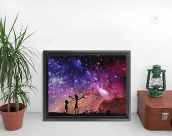 INSTANT DOWNLOAD-Rick And Morty Poster,Rick And Morty In Space Poster,Rick And Morty In Space Wall Art,Rick And Morty In Space Print