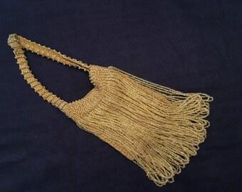 Fringed Beaded Flapper Bag