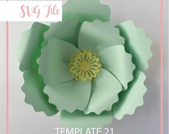 SVG Paper Flower, Giant Paper Flowers, Large Backdrop Flowers, Digital, Paper Flower Template, Base & Tutorial Including
