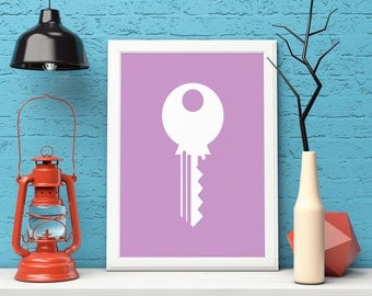 Home Decor Print, Key Print, Printable Wall Art, Key Art Print, Key Wall Art, Key Printable, Housewarming Gift, Instant Download, Poster