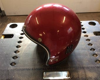 Vintage Open Face Racing Helmet