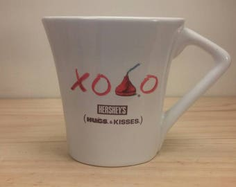 Very Fun Oval Shaped Hershey's Kisses Vintage Mug for the Chocolate Lover! Excellent Condition!